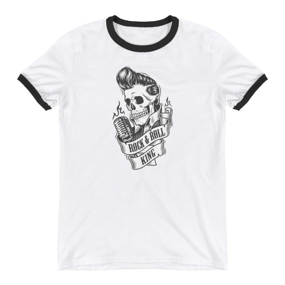 Camiseta tipo ringer rock and roll king